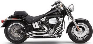 Cobra Exhaust Speedster Short Swept Chrome Harley Softails FXS