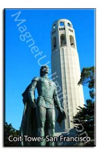 Coit Tower San Francisco SF Souvenir Fridge Magnet 2