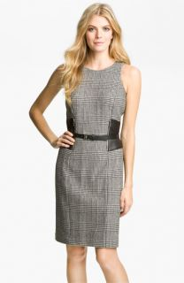 MICHAEL Michael Kors Faux Leather Trim Dress