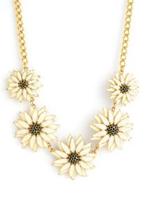 kate spade new york black eyed susan flower necklace