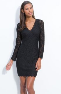 Adrianna Papell Lace Overlay Sheath Dress (Petite)
