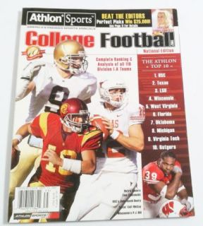 Athlon Sports College Football National Preview 2007 Colt McCoy