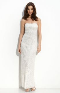 Sue Wong Embellished Strapless Column Gown