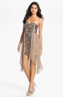 Way In Sequin Chiffon Overlay Dress (Juniors)