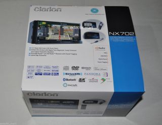 CLARION NX702 2 DIN DVD/GPS/NAVI/USB/IPOD/IPHONE/BLUETOOTH/ HD RADIO