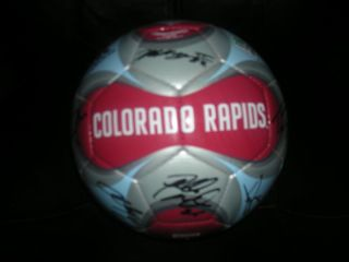 Colorado Rapids MLS Team Autographed Adidas Soccer Ball 2011 COA
