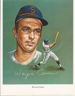 1969 Wheeldon portrait WAYNE COMER Seattle Pilots