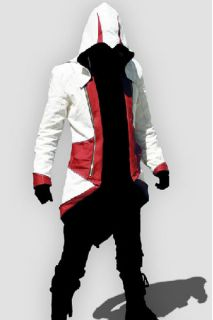 Assassin`s Creed III Conner Hoodie Red Jacket Cosplay Costume