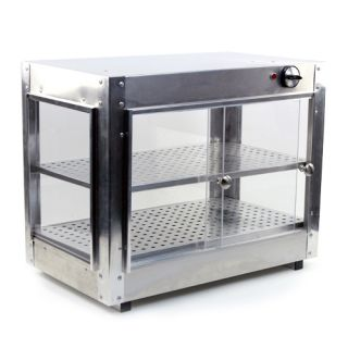 Commercial Food Warmer Heated Aluminum Countertop 24x15x20 Pizza
