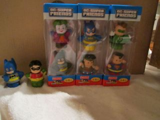 Little People DC Super Friends Complete Set Batman Robin Joker Justice