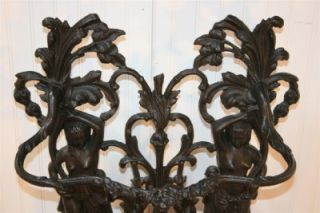 French Art Nouveau Style Marked Corneau Alfred Cast Iron Figural