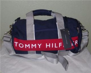 Tommy Hilfiger Womens Mens Mini Duffle Gym Bag Tote Luggage Purse NWT
