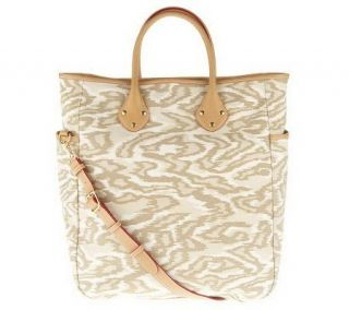 As Is Isaac Mizrahi Live Printed Canvas Large Carryall Tote