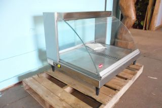 COMMERCIAL COUNTERTOP HATCO CURVED GLASS HEATED LIGHTED FOOD WARMER