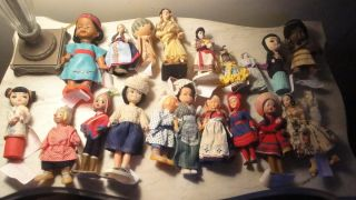 Assortment of 19 Dolls in My Personal International Doll Collection