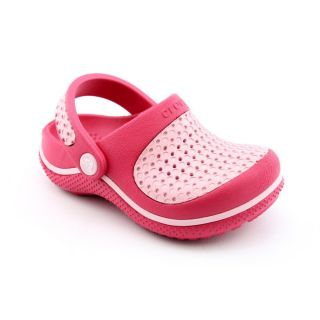Crocs Crosmesh Youth Kids Girls Size 8 Pink Synthetic Clogs Shoes