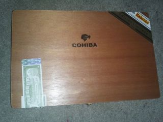 CUBAN COHIBA CIGAR BOX EMPTY