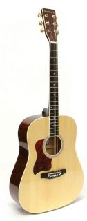 crestwood left handed dreadnought acoustic guitar