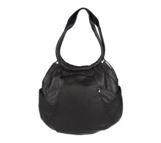 Lucky Brand Leather Double Strap Hobo Bag w/Side Pockets —