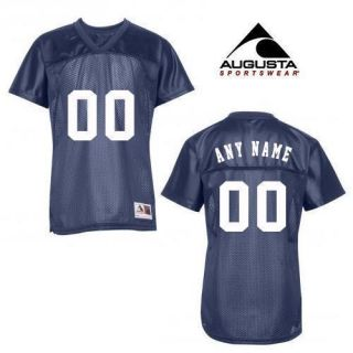 Gift for Wife Football Fan Navy Custom Football V Neck Jersey Add Name