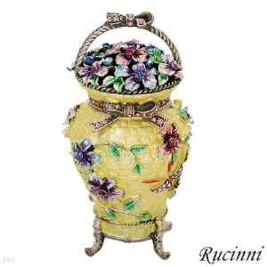 brand new rucinni swarovski crystal trinket box