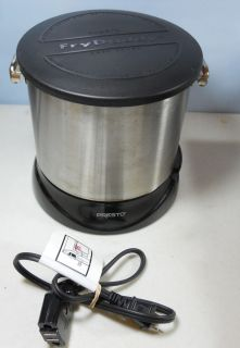 Presto Fry Daddy Elite Model 0542610 Deep Fryer Brushed Stainless