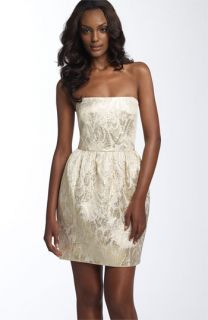 Shoshanna Strapless Jacquard Dress