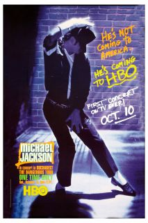 Michael Jackson HBO Dangerous Tour Bucharest Promotional Poster Circa
