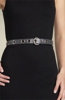 MICHAEL Michael Kors Grommet Patent Leather Belt