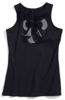 Sisley Young Flower Appliqué Tank (Big Girls)