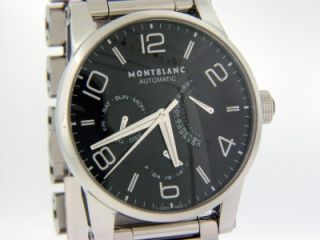 Montblanc 103095 Timewalker Retrograde Black Dial Mens Watch Retail $