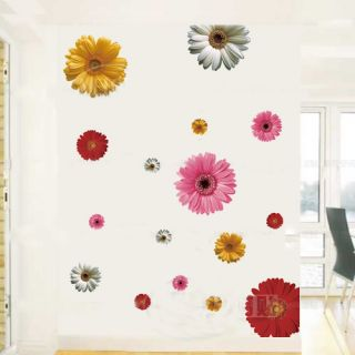 Fresh Daisy flower nursery room removable quote vinyl wall decals