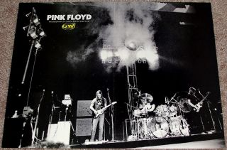 Pink Floyd David Gilmour Roger Waters Live Stage Poster