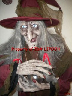 Lifesize Animated Fortune Teller Witch Halloween Prop