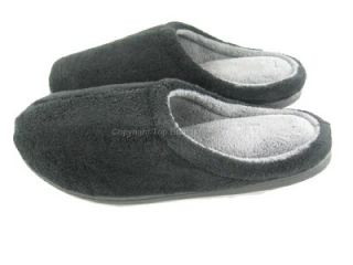 Mens Dearfoam Slippers Slip Ons Indoor Outdoor Black Size 9 10 11 12
