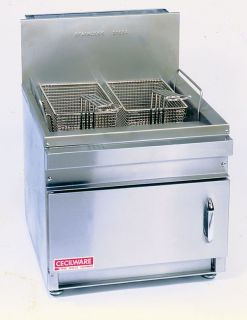 Commercial Gas Deep Fryer 28 lbs Cecilware GF 28 Nat LP