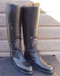 Dehner CHP motorcycle patrol black leather dress riding motor boots