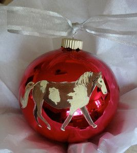 Missouri Fox Trotter Horse Christmas Ornament Hand Painted with Name