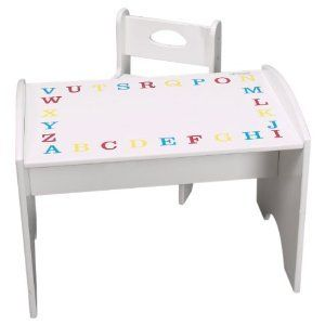 Kids Small ABC Desk Table and Chair Set Play Table Set