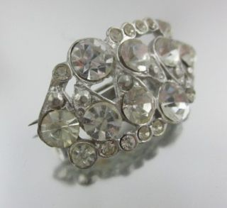 designer lot 2 rhinestone vintage brooch pins this is a classic brooch