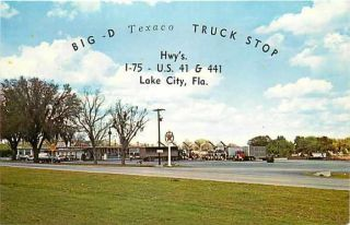 FL Lake City Florida Big D Texaco Truck Stop Dexter Press 50315 C
