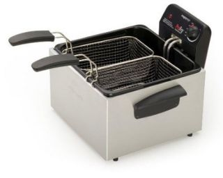 DEEP FRYER DUAL BASKET FAMILY SIZE FRYING MACHINE LARGE FRY CHICKEN