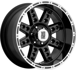 22x11 6x5 5 25mm Black KMC XD Diesel Wheels Rim Chevy