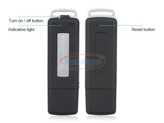 SPY 8GB USB pen Drive digital Audio voice Recorder 150 Hours Black