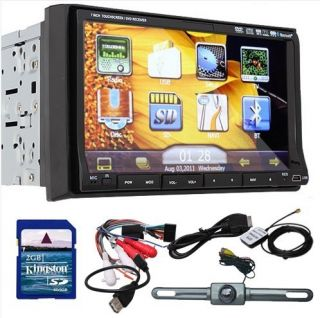 High Def 7 in Dash 2 DIN Car Stereo DVD Player GPS Navigation 3D