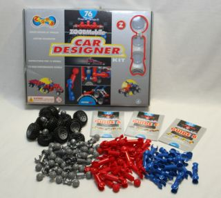 Zoobmobile Car Designer Building Toy Complete Set