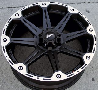 Dick Cepek Torque 22 Black Rims Wheels Montero 6x5 5