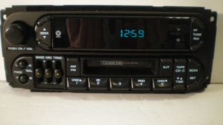 01 2001 DODGE GRAND CARAVAN MINIVAN CASSETTE PLAYER RADIO STEREO W EQ