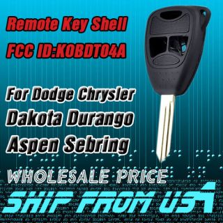 Key Shell for Dodge Chrysler Mitsubishi Dakota Aspen Raider