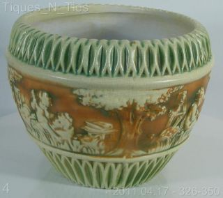 Roseville Pottery Donatello 11 Jardiniere Vase Planter